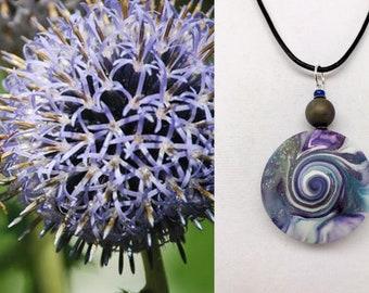 Karma Spiral Pendants - #271 Polymer Clay Pendant, Good Luck Charm, Good Karma, Handmade, One of kind, Unique Gift, Boho Jewelry