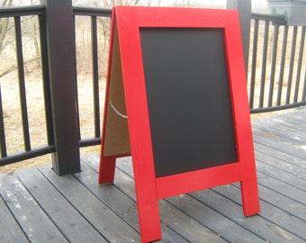 Chalkboard easel sidewalk chalkboard apple red sandwich chalk board custom A frame chalkboard wedding chalkboard menu
