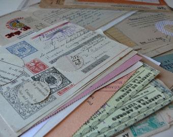 20 OFFICE papers - Assorted vintage EPHEMERA Paper PACK