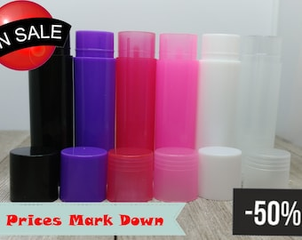 5ml PP Colorful Mini Cosmetic Lip Balm Containers Lip Tubes (Pack of 10, 25, 50) | DIY