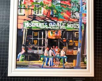 McSorley's Ale House Irish Pub Frame Art Large Square  Frame.  New York NYC Art Fine Art Print City lower Eastside Painting by Gwen Meyerson