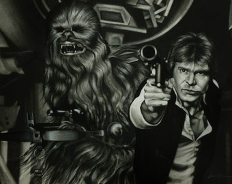 Never Tell Me The Odds (original drawing)
