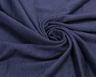 Blue Denim  160 GSM Rayon Spandex Jersey Knit Fabric by the Yard - 1 Yard Style 13390