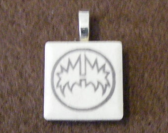 KISS Spaceman - Laser engraved Ceramic Tile Pendant