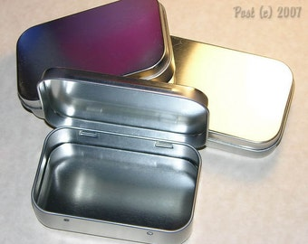 Set of (3) Hinged Tin Containers - Storage - Storing - Sewing - Crafts -  Jewelry - **NEW**