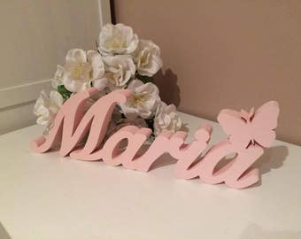 Thick freestanding custom wooden names / home decorations / nursery decorations / kids room / babys room