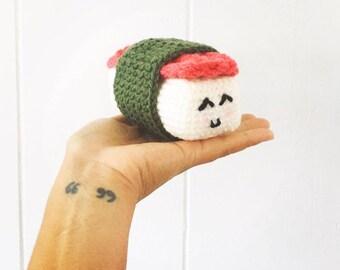 Crochet Spam Musubi | Amigurumi Spam Musubi | Amigurumi toy | Spam Musubi Plush | Crochet Plush | Crochet Sushi