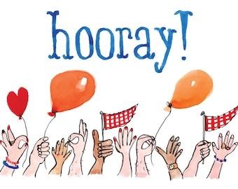 Hooray! Greetings Card