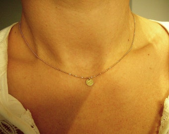 LETTERPRESS NECKLACE - gold plated 925 Silver