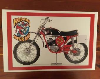 Vintage Hodaka Super Rat motorcycle reproduction poster