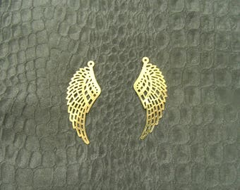 Charm in the shape of wings - gold or silver