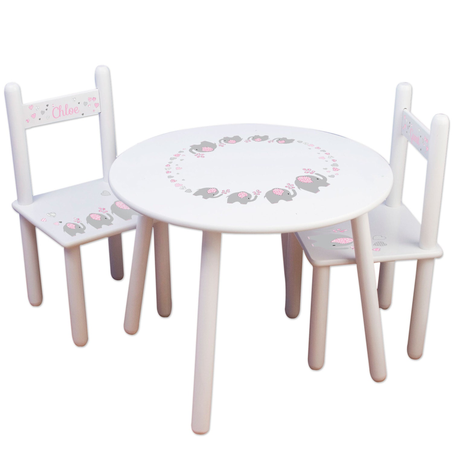 🔎zoom  sc 1 st  Etsy & Kids Table and Chair Set Kids Furniture for Elephant Nursery