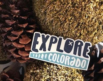Explore Colorado   Vinyl Sticker Design
