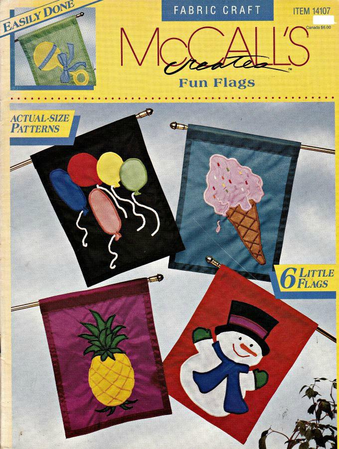 McCalls erstellt Spaß Fahnen Stickerei-Muster Flagge Muster