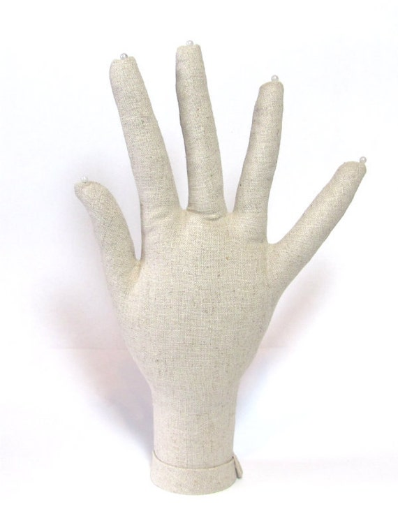 SALE ~ Hand Jewelry Display ~ Linen HAND-Stand ~ Ready to Ship