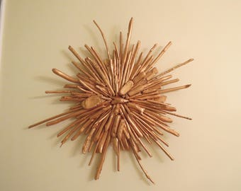 Driftwood Wall Art Flower - Nature mimicing Nature - rustic beauty, chic design