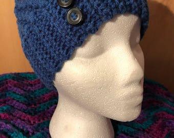 Crocheted Messy Bun Beanie - SEAMLESS