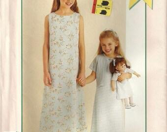"McCalls P415 Girls Shift Dress Jacket & Matching 18"" Doll Clothes Sewing Pattern Size 7 - 14"