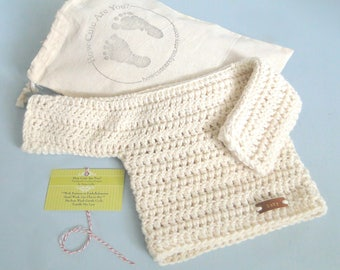 Baby Sweater, Baby Top, Alpaca and Wool, All Natural Fibers, Newborn to 3 Months, Shower Gift, New baby Gift, Take Home Baby Outfit