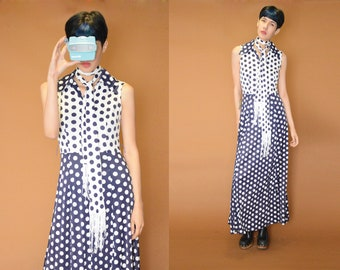 Vintage Maxi Dotted Dress