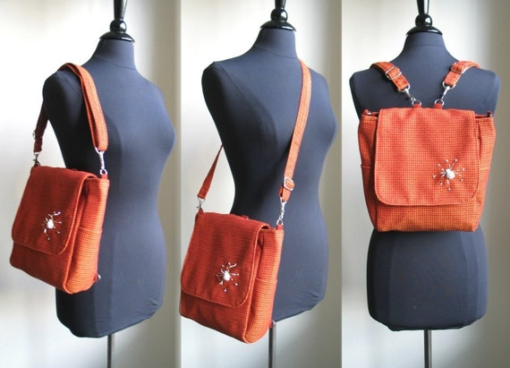 womens backpack purse converts to messenger bag crossbody