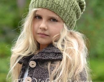Knitting PATTERN-The Chiffon Slouchy (Small, Medium and Large sizes)