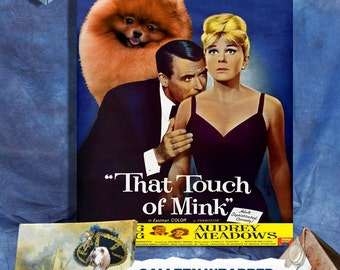 Pomeranian Print Fine Art Canvas - That Touch of Mink Movie Poster   Perfect DOG LOVER GIFT Gift for Her Gift for Him Home Decor