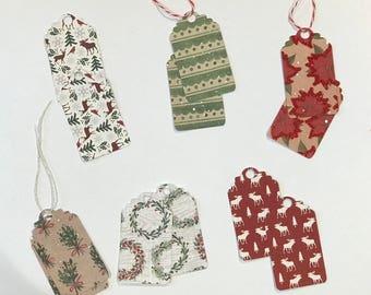 Set of 12 gift tags / Gift tag set 12