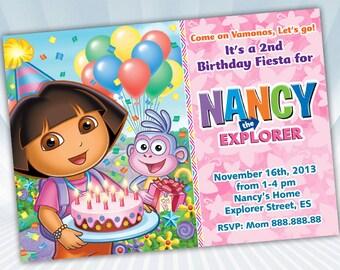 Dora The Explorer Invitation