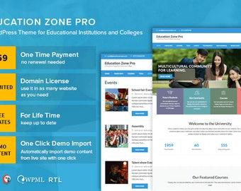 Education WordPress Theme | Responsive | Education Zone Pro