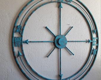Metal Compass Rose, Metal Wall Art, Nautical Wall Art, Nautical Metal Decor, Nautical Decor, Compass Wall Art, Wall Decor, Metal Wall Decor