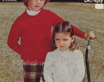 Child's sweaters knitting pattern. Instant PDF download!