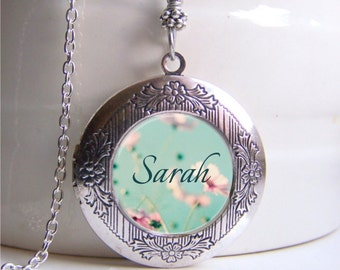 Personalized Locket Necklace, Name Necklace, Photo Locket