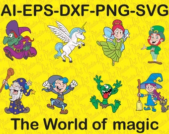 The World Of Magic SVG 8 Files