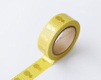 NEW 10M Beautiful Pinapple Gold Foil Washi Tape 10Mx15MM
