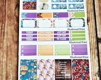 "ROMANTIC AUTUMN Functional Sticker Kit- ""Veronica's Kit"",  Planner Stickers, Vertical Sticker Kit Sized for Erin Condren Life Planner"