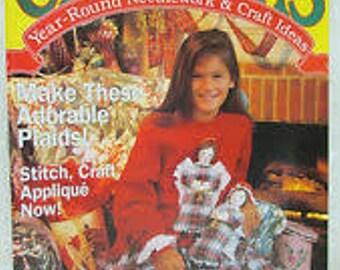 Christmas Magazine, 3 Issues, Vintage 1990's
