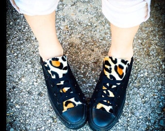 Leopard Print Converse Shoes