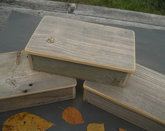 Barnwood MOOSE BOX handmade from reclaimed weathered wood - rustic refined