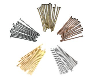20mm Head Pin, Copper pin, DIY Jewelry, Jewelry Findings, Beading Supplies, Wholesale, Gauge 21, 0.7mm, RN
