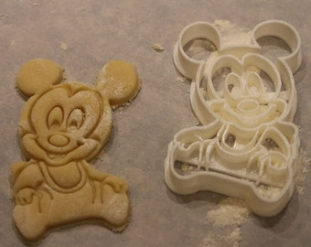 Mickey Mouse Cookie Cutter, Baby Mickey Fondant Cutter,Baby Shower Cookie Cutter, Party Supply,Birthday, Party,Children Party, Child Party