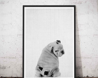 Bulldog Dog Lovers Gifts English Art Lover Gift Idea Birthday Mom Memorial Home Decor