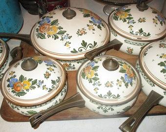 1970's Porcelain Enamelware Cookware Set! #DL