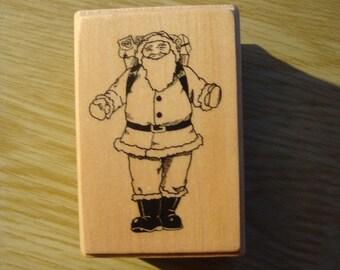 """Wooden stamp model """"Santa"""" for scrapbooking, embellishments or cardmaking"""