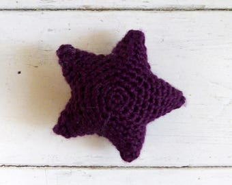 Crochet starfish, ultra violet star, cute crochet, cute amigurumi, crochet amigurumi, bowl sitter, vase filler, bright colored