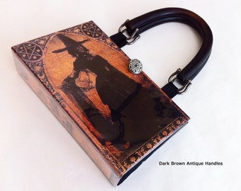 Witch Book Purse - WICCAN Book Clutch - History of Witches Book Purse - Salem Witch Book Cover Handbag - WICCAN Gift - Witch Gift