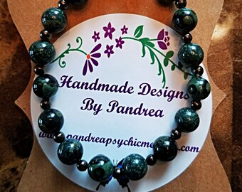 Handmade Kambaba Jasper Bracelet