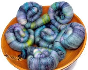Merino Rolags Hand Pulled Merino dyed 100g