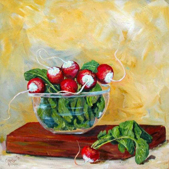 Garden Fresh Radishes in a Bowl