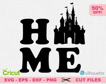 Disneyland Home Svg, Disney Castle Home SVG, Disney Home, Disney castle silhouette, Disneyland svg, Cinderella svg, Cinderella castle